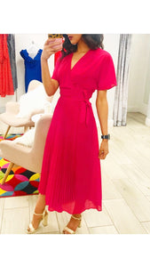 Jovonna Ellington Dark Pink Wrap Dress