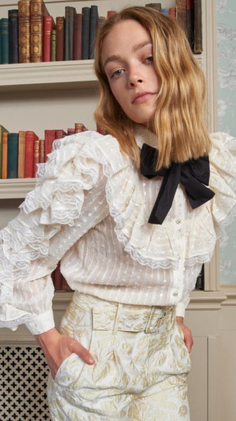 Sister Jane Sweetest Lace Ruffle Ruffle Shirt