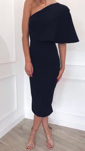 Pretty Lavish Sienna One Shoulder Black Dress