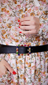 Sister Jane  Spotlight Faux Leather Multi Coloured Belt