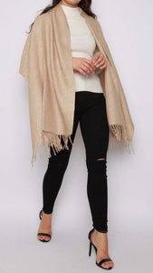 Ribbed Knitted Shawl Scarf (Two Colours)