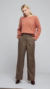 Louche Marcus Carpenter Brown Pocket Check Trouser