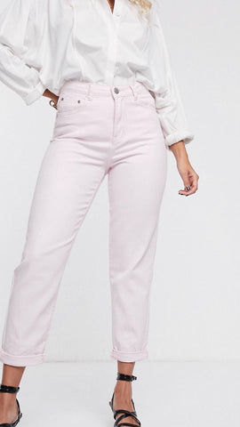 Glamorous Vintage Fit Baby Pink Mom Jeans
