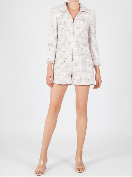 Jovonna Whisper Tweed Playsuit