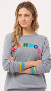 Sugarhill Velma Spell It Out Rainbow Sweater