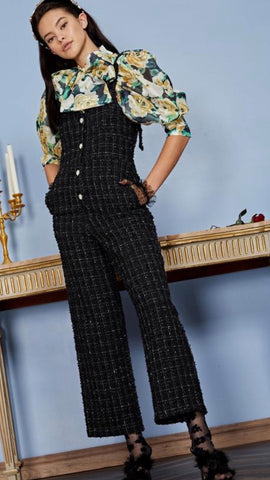 Sister Jane Throne Tweed Jumpsuit