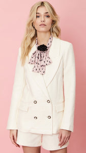 Sister Jane On the Road Textured White Blazer