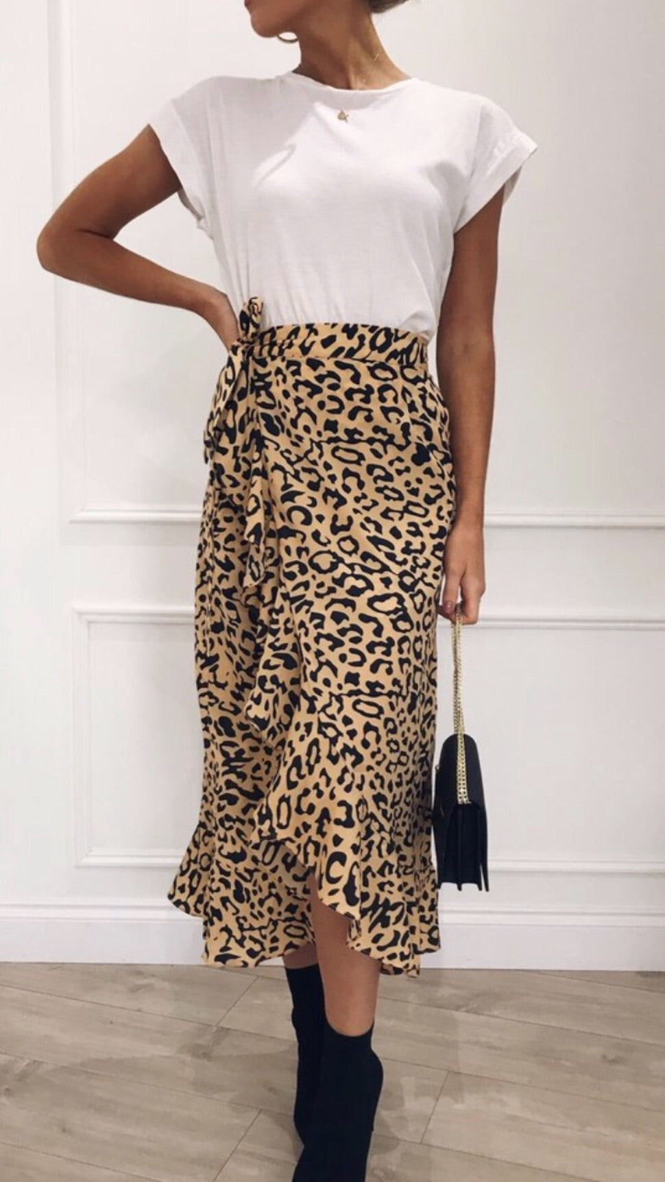 Pretty Lavish Lulu Leopard Skirt