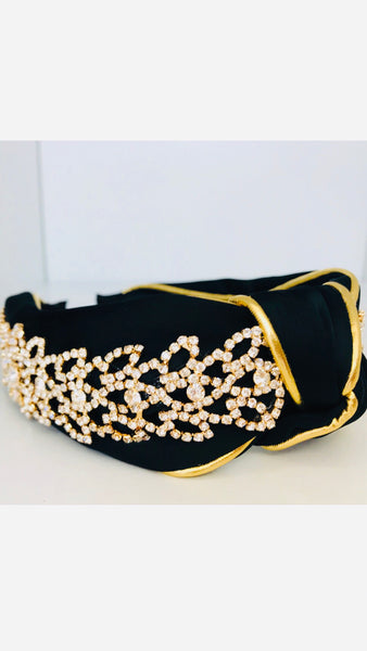Grace Loves Claudia Black Gold Crystal Headband (Limited Edition)
