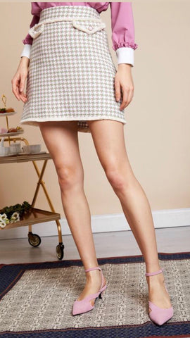 Sister Jane Demure Tweed Mini Skirt
