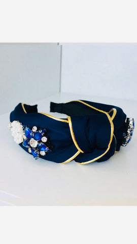Grace Loves Claudia Navy Blue Stones Headband (Limited Edition)