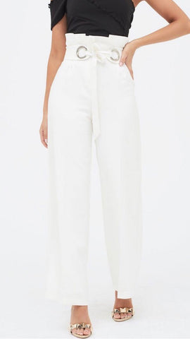 Lavish Alice Paper Bag Wide Leg Trouser
