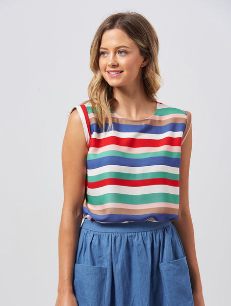 Sugarhill Olivia Cabana Stripe Tee Top
