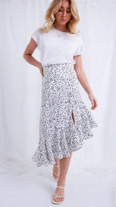 Pretty Lavish Zana Polka Dot Skirt
