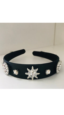 Grace Loves Black Glitz Headband