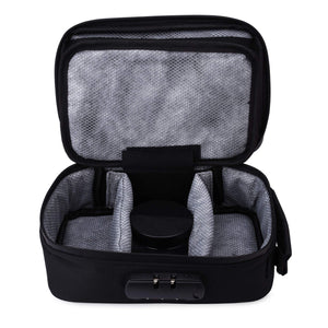 black smell proof bag with lock