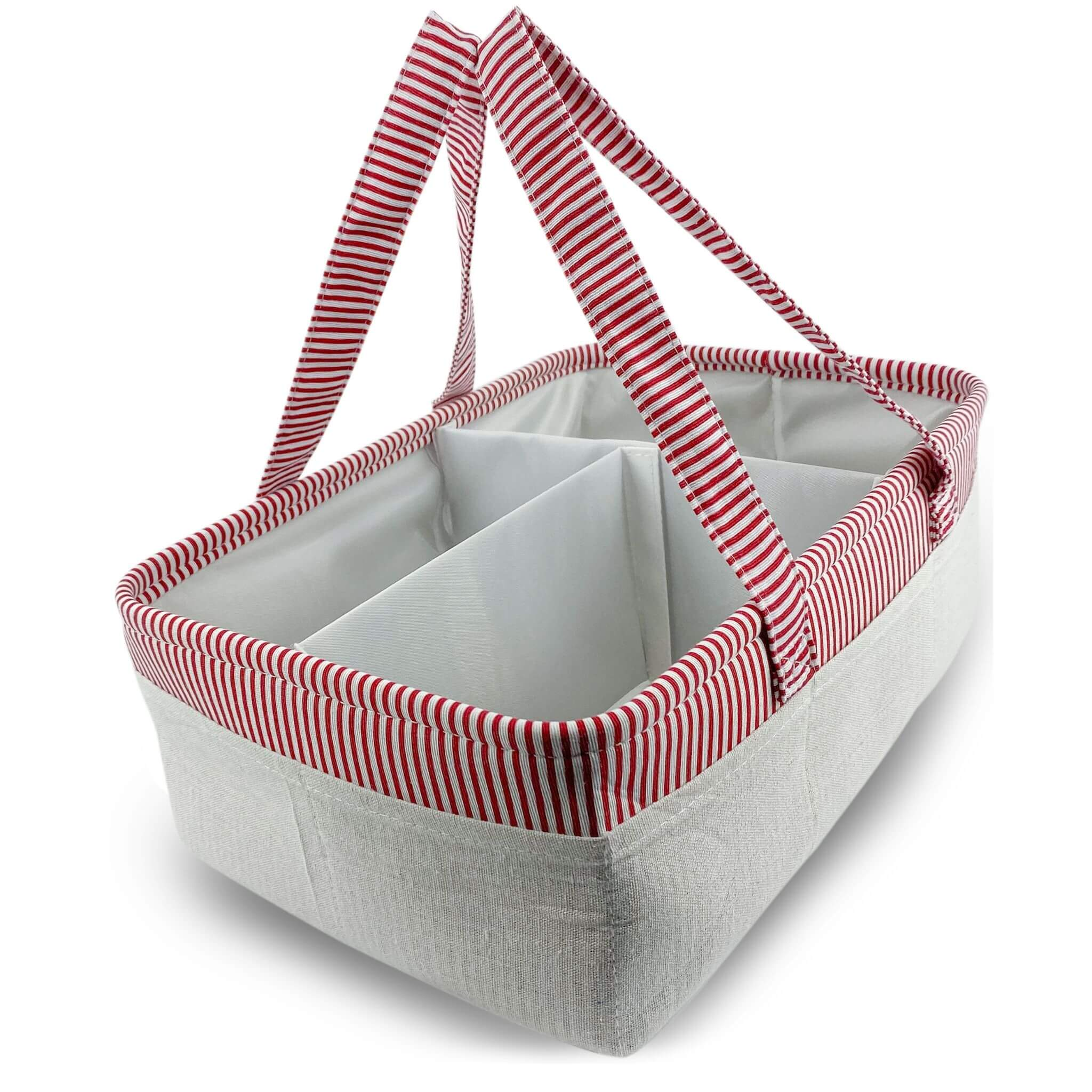 diaper organizer in red from we care vida shop