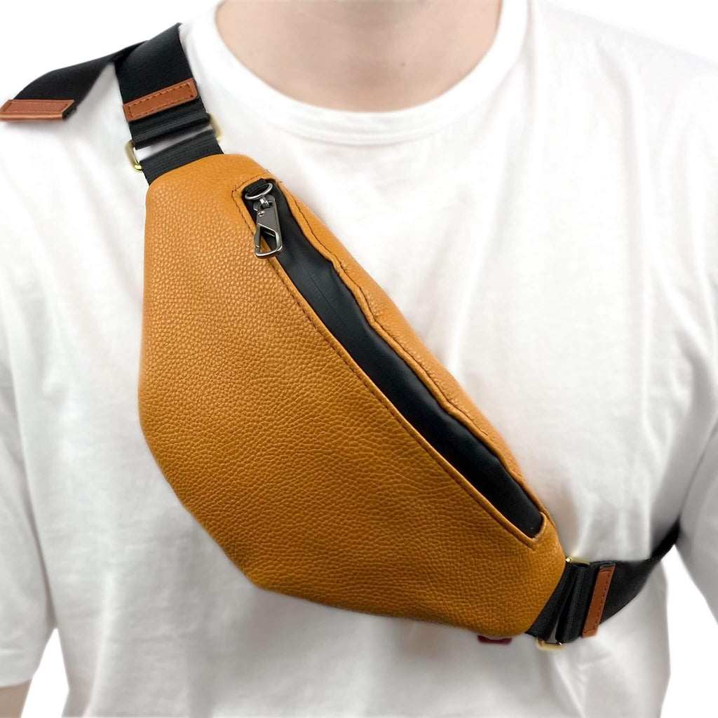 fanny pack for man in brown color