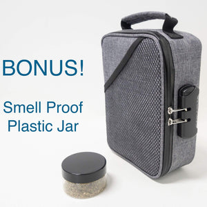 smell proof bag for weed with bonus jar