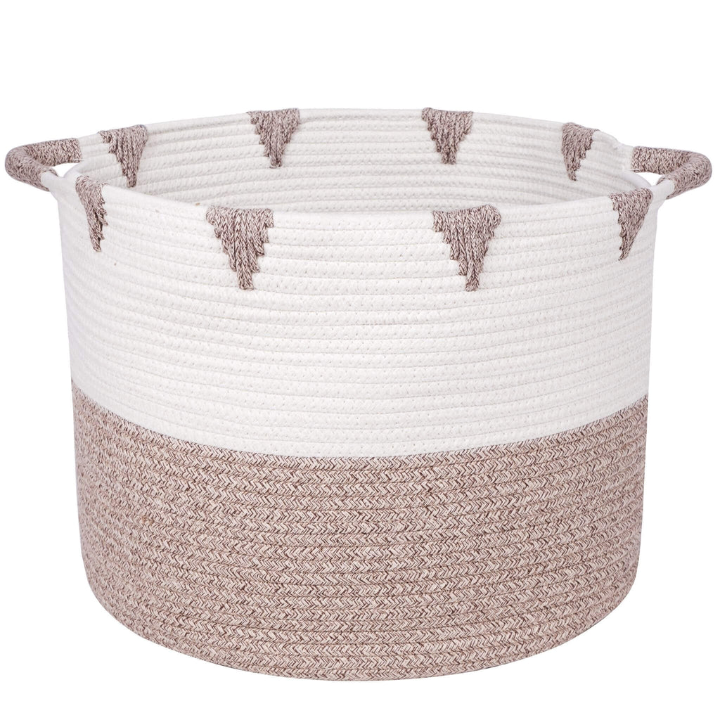 storage basket with white background