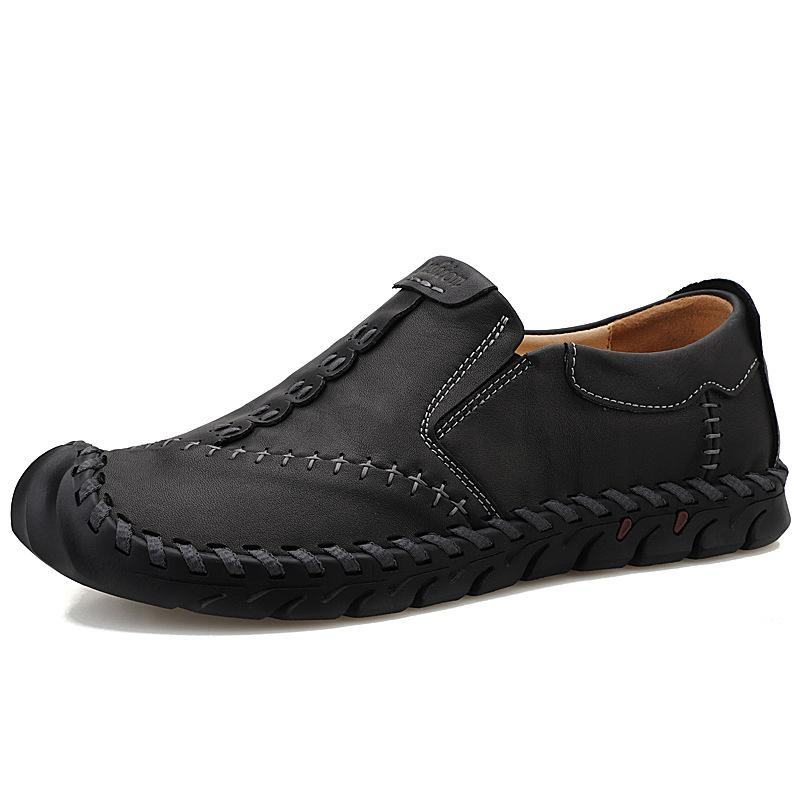 Men's Soft Sole Hand-sewn Leather Shoes