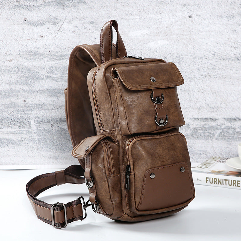 Fashion Outdoor Travel Vintage Leather Waist Bag