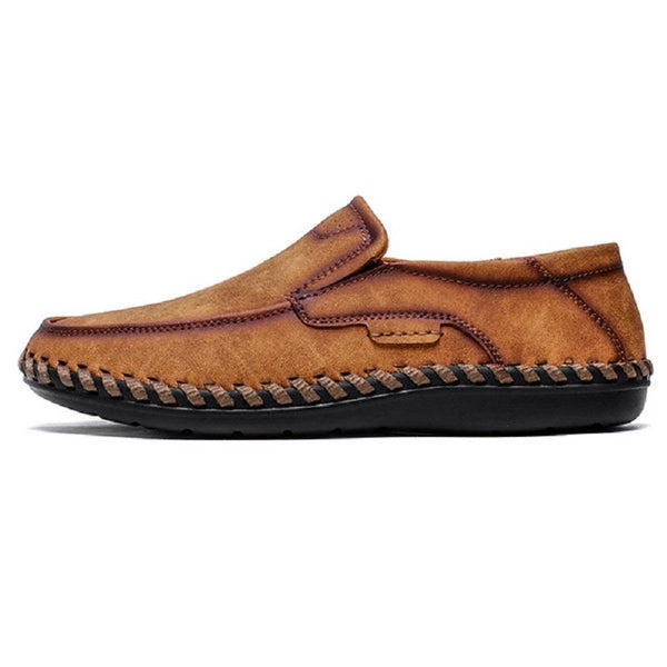 Microfiber Leather Hand Stitching Non-slip Casual Shoes