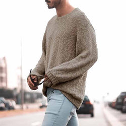 Simple Solid Color Long Sleeve Sweater