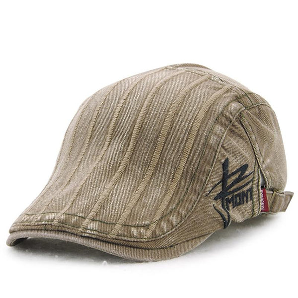 Men's Fashion Stripe Beret Cap