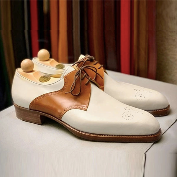 Men's Fashion New Color Matching Slip-On Leather Shoes