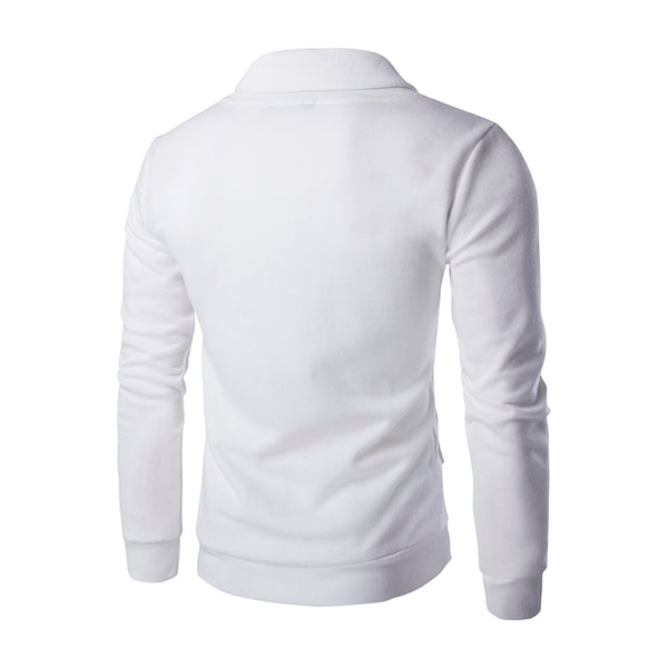Embroidered Slim Men's Sweater