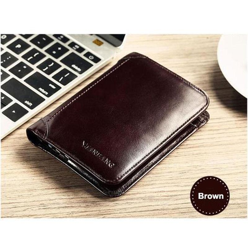 Cowhide Leather Small Pocket Wallets