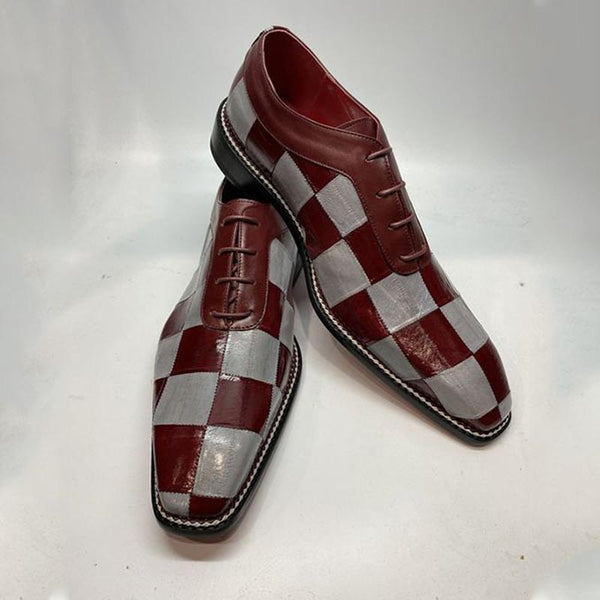 Fashion Handmade Leather Patchwork Men's Dress Shoes