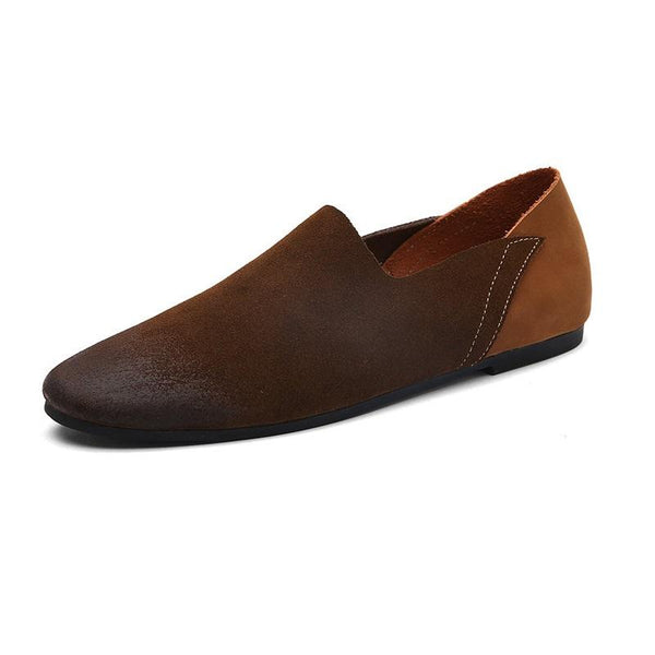 Suede Leather Slip-On Soft Flat Loafers