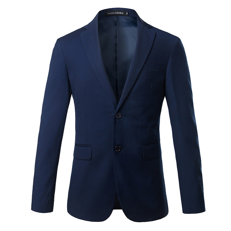 Solid Color Lapel Slim Blazer