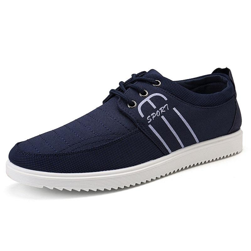 Splicing Canvas Pure Color Lace Up Casual Trainers