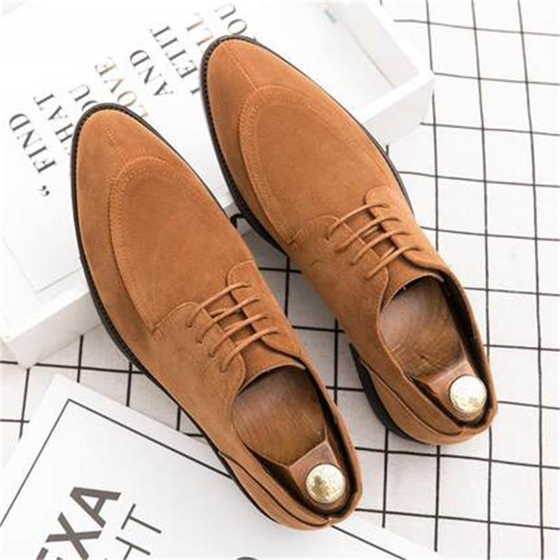 Men's Suede Lace Up Formal Dress Shoes