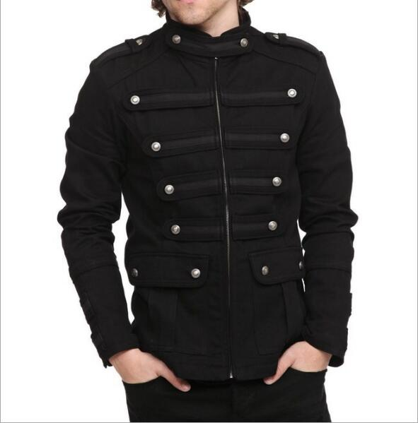Retro Double-breasted Zipper Slim Jacket