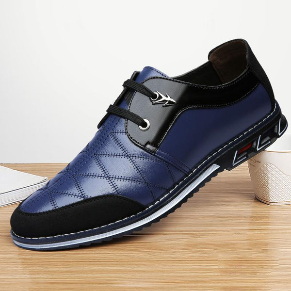 New Lace-up Casual Breathable Leather Shoes