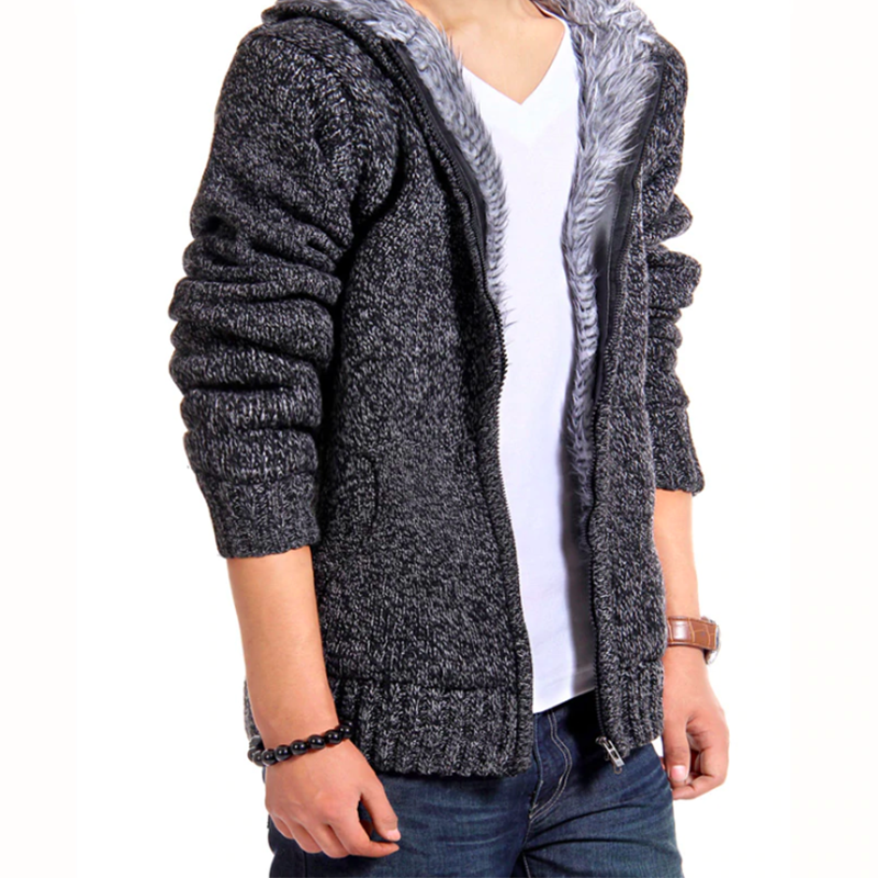 Hot Sale Thick Winter Warm Casual Men's Hooded Jacket
