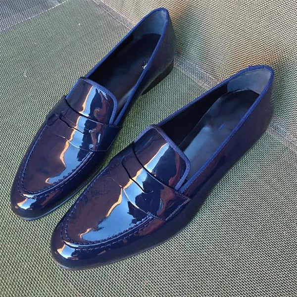 Men's Italian Fashion Glossy Leather Shoes