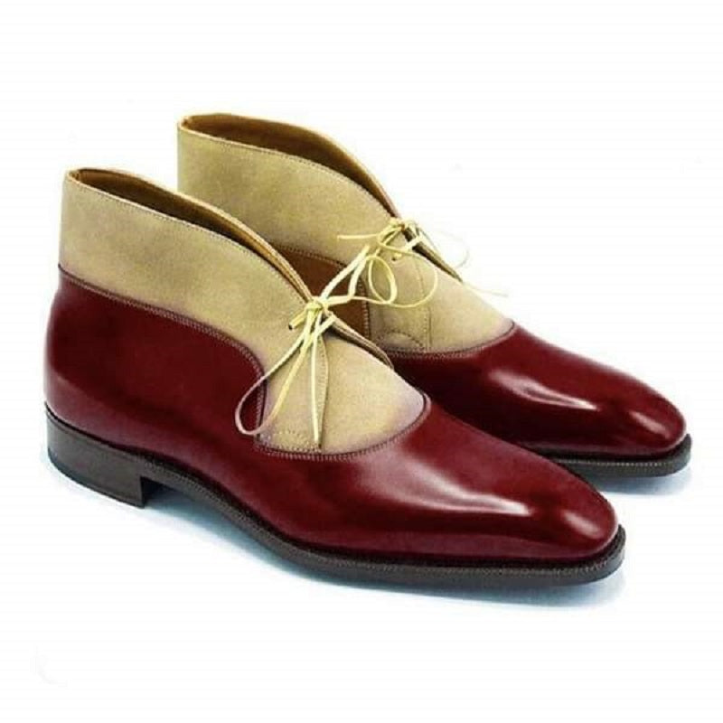 Leather Patchwork Dress Shoes
