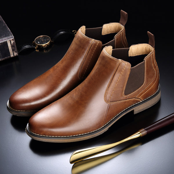Men's British Solid Casual Boots