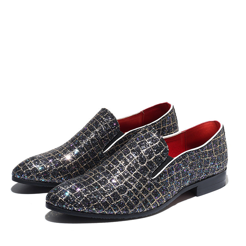 Stylish Sequin Pointed Toe Casual loafers