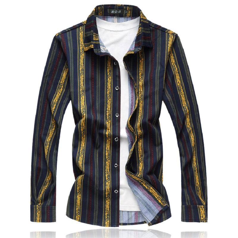 Men's New Trendy Vertical Stripe Shirt