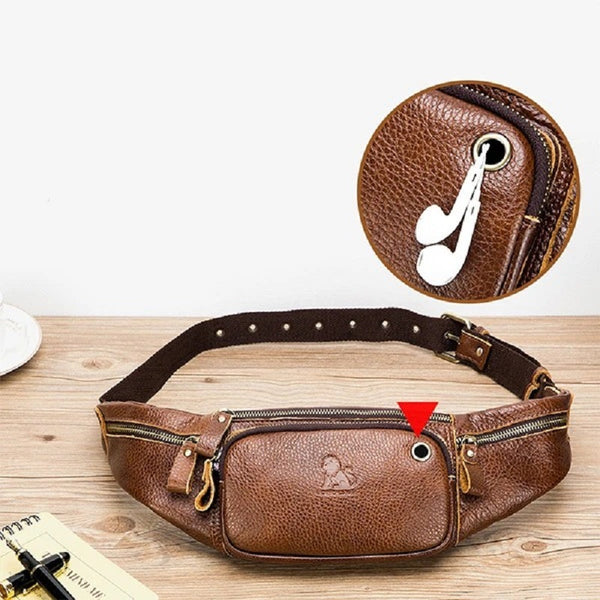 Vintage Leather Multi-functional Crossbody Chest Bag