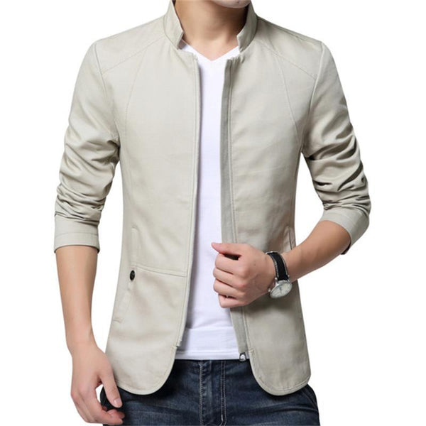 Men Cotton Stander Collar Jacket