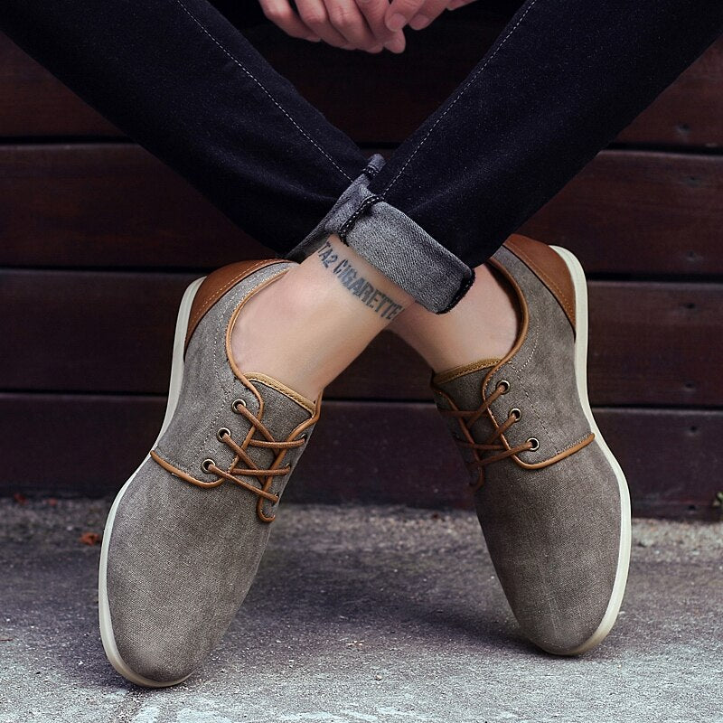 Fashionable Low-top Washed Canvas Shoes