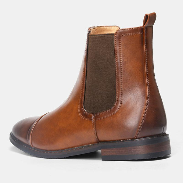 Handmade Leather Classic Men Ankle Boots