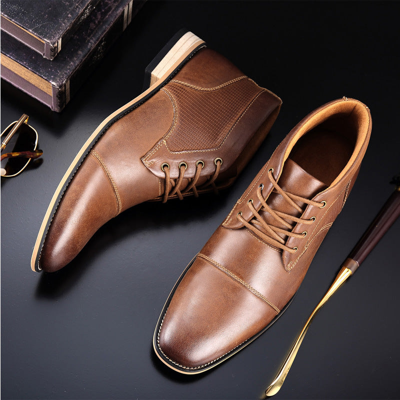 Plus Velvet Casual Trend Leather Shoes